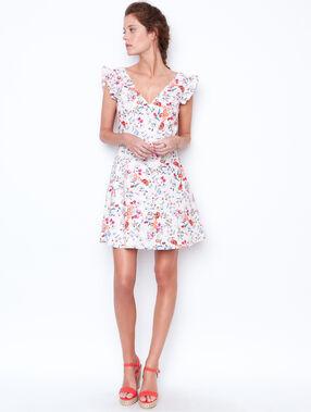 V-neck dress white.