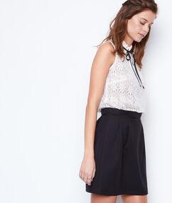 Pleated skirt black.
