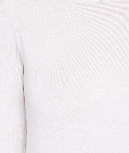 Slash neck jumper