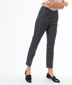 Cigarette pants charcoal grey.