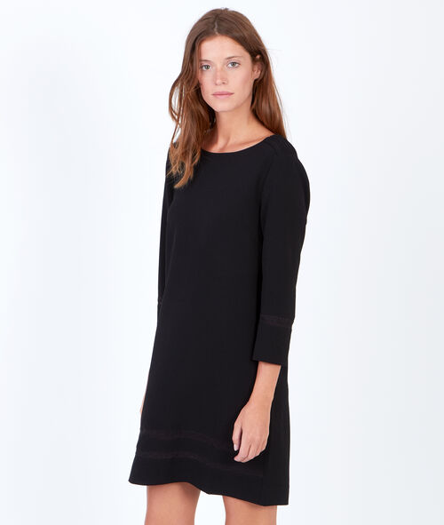 3/4 sleeve dress with lace details