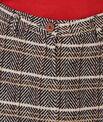 Wool check skirt
