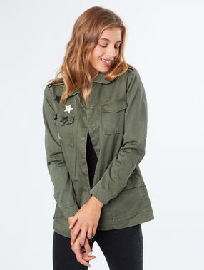 Military jacket khaki.