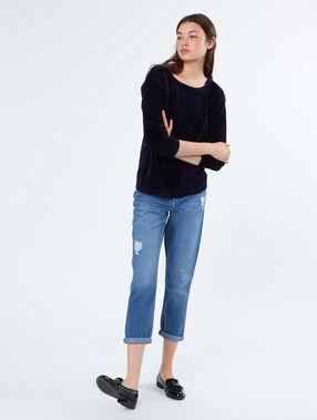 Jeans blau.