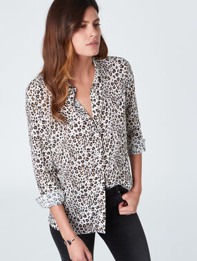 Lose shirt leopard print off-white.