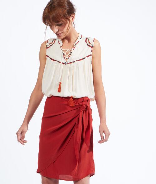 Wrap-over skirt