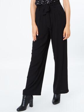 Flared flowing pants black.