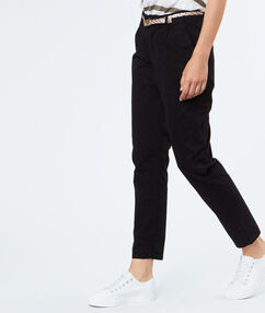 Cotton capri pants black.
