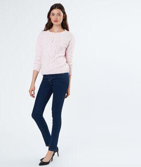 Jeans pocket with strass dark blue.