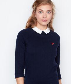 3/4 sleeves sweater navy.