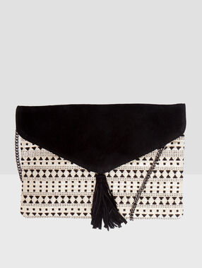Two-material clutch black.