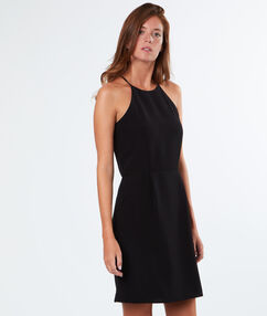 Lace back dress black.