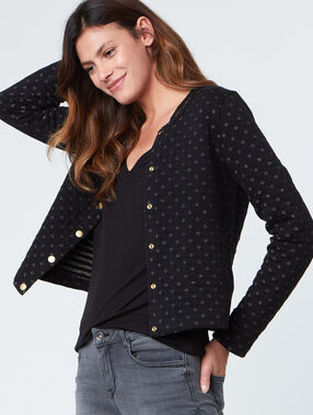 Coton cardigan with long sleeves navy.