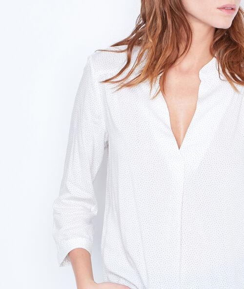 V-neck dotty blouse