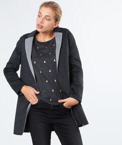 3/4 coat dark grey.