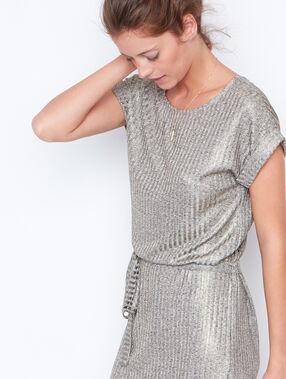 Short sleeve dress gold.