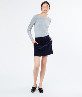 Cotton skirt navy.