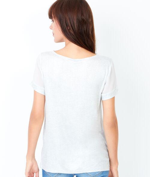 Short sleeve t-shirt, iridescent aspect