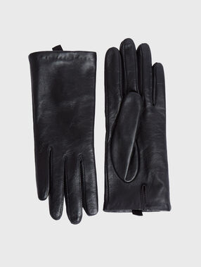 Leather gloves black.