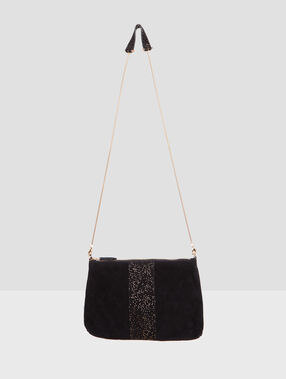 Glitter clutch bag black.