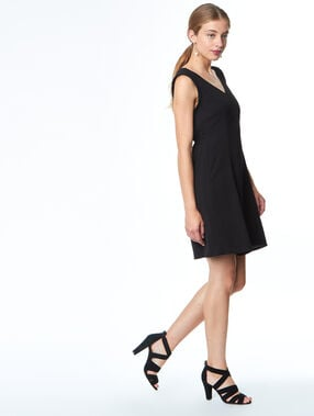 Formal dress black.