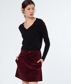 Cotton skirt plum.