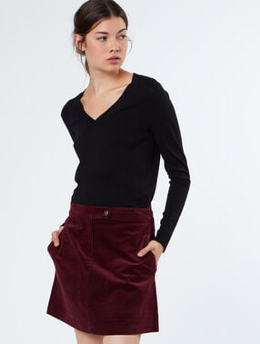 Cotton skirt plum.