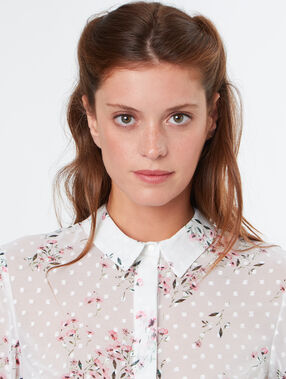 Flowery shirt white.