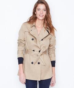 3/4 trench coat beige.