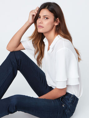 Short sleeves shirt white.