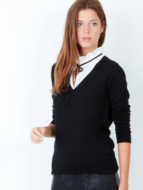 Knit sweater black.