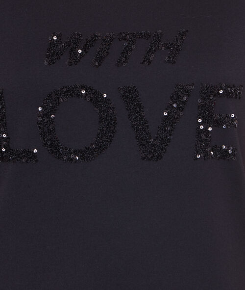 SEQUINS EMBROIDED T-SHIRT