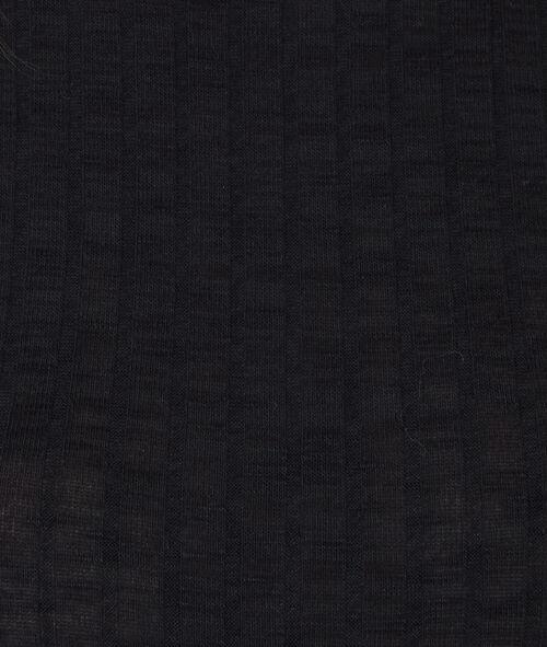 Robe en maille à manches courtes et col cheminée