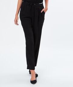 Tie waist pants black.