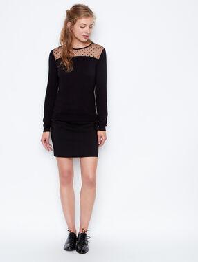Plumetis sweater black.