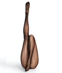 Sheer tights 15d with a back seam black.