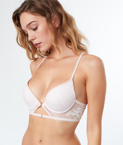 Bra no. 2 - plunging push-up bra blush.