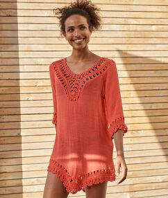 Beach dress coral.