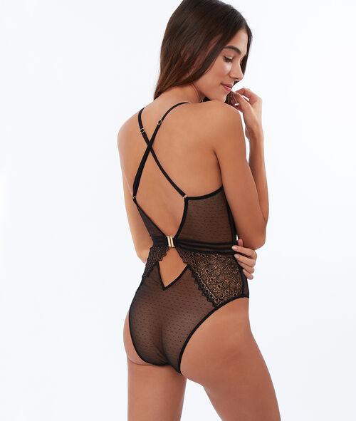 Rose lace bodysuit