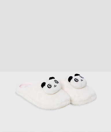 Panda slippers ecru.