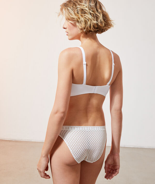Bandeau bra with thin cups;${refinementColor}