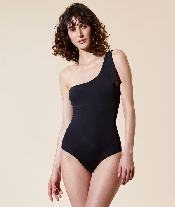 One piece swimsuit, removable pads;${refinementColor}