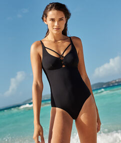 One piece swimsuit, structured back black.