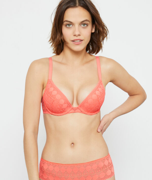 Bra No 2 - plunging push up bra;${refinementColor}