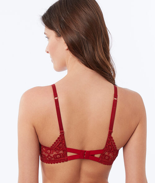 Bra no. 2 - plunging push-up, embossed lace