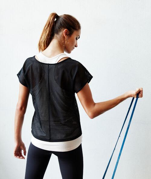 2 in 1 fishnet T-shirt