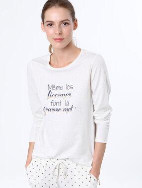 Message t-shirt white.