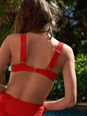 Padded bikini top red.