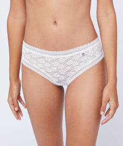Lace hipster white.