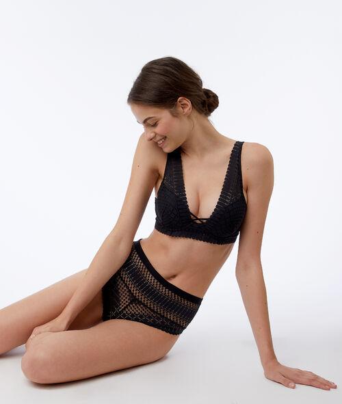 High waist lace brief